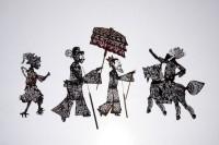 """Personnages pour la pièce """"L'Investiture des dieux"""" . Chine, Sichuan ?, XIXe siècle. Peau de bovidés © João Silveira Ramos/ Museu do Oriente/Lisboa/Portugal"""
