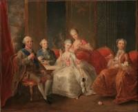 Jean-Baptiste Charpentier, La Famille du Duc de Penthièvre dit La Tasse de chocolat (c) Musée Jacquemart-André - Chaalis
