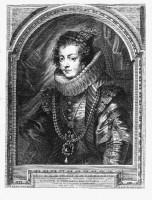 Pierre-Paul Rubens (Siegen, 1577-Anvers, 1640). Portrait d'Isabelle de Bourbon, 1632. Gravure à l'eau-forte estampée sur papier vergé. Collection Gerstenmaier © Photo: Collection Gerstenmaier