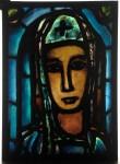 Georges Rouault / atelier Bony, Véronique, réplique de la verrière posée en 1947 à la façade de l'église Notre-Dame-deToute-Grâce du plateau d'Assy, vers 1948 Coll. musée des Beaux-arts de Reims © ADAGP, Paris, 2015 © Photo C. Devleeschauwer