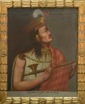 Portrait d'Atahualpa, Inca XIV, 19e siècle. Huile sur toile © Museo Nacional de Arqueología, Antropología e Historia del Perú, Lima