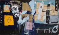 Jean-Michel Basquiat, Slave Auction, 1982. Collage de papiers froissés, pastel gras et peinture acrylique sur toile. © Centre Pompidou, mnam/cci, Dist. RMN-Grand Palais / Philippe Migeat © The estate of Jean-Michel Basquiat / Adagp, Paris