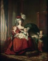 """Elisabeht Louise Vigée Le Brun, """"Marie-Antoinette et ses enfants"""", 1787, huile sur toile, 275 x 216,5 cm, Versailles, musée national des châteaux de Versailles et de Trianon, © Photo Rmn-Grand Palais (Château de Versailles) / Gérard Blot"""