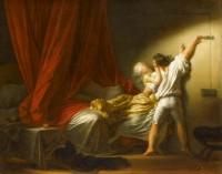 """Jean-Honoré Fragonard, """"Le Verrou"""", vers 1777-1778, huile sur toile, 74 x 94 cm, Paris, musée du Louvre, département des Peintures, © Photo Rmn-Grand Palais (musée du Louvre) / Daniel Arnaudet"""