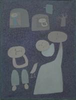 Paek Youngsu (né en 1922), Famille, 1988. Huile sur toile (c) Paek Youngsu / D.R.