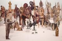 Geoffrey Farmer (né en 1967), Boneyard, 2013/15. Papiers découpés, bois, colle (c) Courtesy of Geoffrey Farmer and Casey Kaplan, New York / Photo : Jean Vong