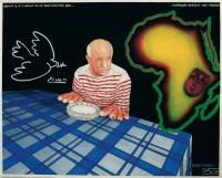 Chéri Samba, Picasso, 2000, Acrylique sur toile, 81 x 99,8 cm, Collection particulière © Chéri Samba