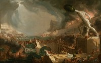 Thomas Cole (1801-1848). Le Destin des empires, La Destruction, 1836. Huile sur toile (c) The New York Historical Society