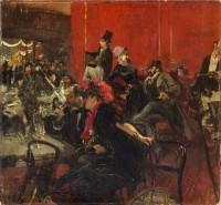 Giovanni Boldini (1842-1931) Scène de fête au Moulin Rouge, vers 1889 Huile sur toile, 96,5 x 104,4 cm Paris, musée d'Orsay © Musée d'Orsay, Dist. RMN-Grand Palais / Patrice Schmidt