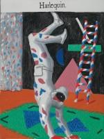 David Hockney, Harlequin [Arlequin], 1980, Huile sur toile, 121,9 x 91,4 cm, Los Angeles, collection The David Hockney Foundation © David Hockney