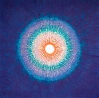 Banh Hai (née en 1937). Naissance de lumière, 2014. Pigments naturels sur papier (c) Bang Hai Ja / Jean-Martin Barbut
