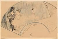 Jean-Louis Forain (1852-1931) Derrière les coulisses, 1885 Crayon, encre de chine, plume, 25,3 x 38,5 cm Paris, musée d'Orsay © RMN-Grand Palais (Musée d'Orsay) / Adrien Didierjean