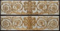 Anonyme. Panneau de l'hôtel d'Aumont. Chêne sculpté et peint en blanc, décor rapporté doré. 1774-1791. Paris, musée Carnavalet. © Musée Carnavalet / Roger-Viollet