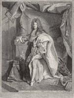 Pierre Drevet, d'après Hyacinthe Rigaud- Portrait de Louis le Grand, 1714-1715 Burin BnF, Estampes et photographie