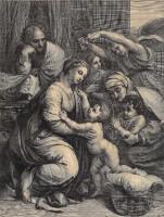 Gérard Edelinck, d'après Raphaël, La Sainte Famille de Jésus Vers 1677 Burin BnF, Estampes et photographie