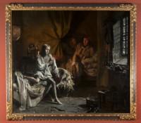 """Émile Mascré (actif à Paris vers les années 1830-1840), """"Capet, Lève-toi !,"""" 1833-1834, huile sur toile. Musée de la Révolution française / Domaine de Vizille© Coll. Musée de la Révolution française / Domaine de Vizille"""