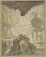 Jean Auguste Dominique Ingres (1780-1867), Le Songe d'Ossian, 1866, graphite, lavis d'encre de Chine et rehauts de blanc sur deux calques, Montauban, musée Ingres (déposé par le département des arts graphiques du musée du Louvre) © Montauban, musée Ingres /cliché Guy Roumagnac