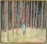 Mann im Wald [Homme dans la forêt], 1971 174 x 189 cm Acrylique sur toile de coton Collection particulière, San Francisco © Ian Reeves