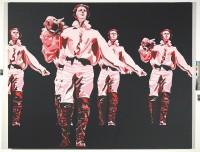 Le Rouge et le noir dans le Prince de Hombourg, 1965. Série « Pétrifiés ». Huile sur toile, 200 x 250 cm. Collection du musée national d'histoire et d'art, Luxembourg
