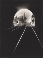François Kollar. Bouche du tunnel Sainte-Catherine, vers Sotteville-lés-Rouen, Rouen 1931-1932. Épreuve gélatino-argentique, tirage d'époque. Donation François Kollar, Médiathèque de l'architecture et du patrimoine, Charenton-le-Pont