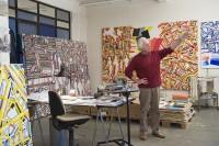 Atelier de Gérard Fromanger Paris, vendredi 14 novembre 2008 © Centre Pompidou, Bibliothèque Kandinsky