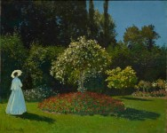 Claude Monet, Lady in the Garden, 1867 (c) The State Hermitage Museum. Photography: Vladimir Terebenin