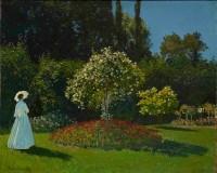 Claude Monet, La Dame en blanc au jardin, 1867 (c) The State Hermitage Museum. Photography: Vladimir Terebenin