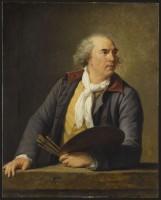 Elisabeth Louis Vigée-Le Brun. Hubert Robert, 1788. Huile sur panneau de chêne (c) RMN - Grand Palais (musée du Louvre) / Jean-Gilles Berizzi