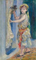 Pierre Auguste Renoir. L'Enfant à l'oiseau (Mlle Fleury en costume algérien), 1882. Huile sur toile. Photo © Sterling and Francine Clark Art Institute, Williamstown, Massachusetts, USA (photo by Michael Agee)