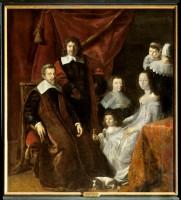 Ecole française 1re moitié du XVIIe siècle, aussi attribué à Philippe de Champaigne. Portrait de la famille Habert de Montmor, 1ère moitié du XVIIe siècle. Huile sur toile. Photo © Château de Sully-sur-Loire
