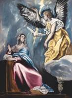 Doménikos Theotokópoulos, dit Greco. L'Annonciation, vers 1600. Huile sur toile, 91 x 66,5 cm Budapest, musée des Beaux-Arts © Musée des Beaux-Arts, Budapest 2016