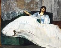 Edouard Manet. La Dame à l'éventail ou La Maîtresse de Baudelaire, 1862. Huile sur toile, 90 x 113 cm Budapest, musée des Beaux-Arts © Musée des Beaux-Arts, Budapest 2016