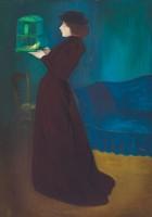 József Rippl-Rónai. Femme à la cage, 1892. Huile sur toile, 185,5 x 130 cm. Budapest, Galerie nationale hongroise © Galerie nationale Hongroise, Budapest 2016