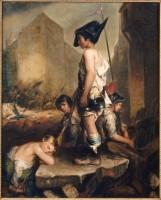 Philippe-Auguste Jeanron. Les Petits Patriotes, 1830. Huile sur toile. Photo © RMN-Grand Palais / Daniel Arnaudet