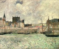 Gauguin, Paul (1848-1903). Le Port de Dieppe, 1884. Huile sur toile. Manchester City Galleries © Manchester Art Gallery, UK / Bridgerman Images