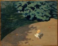 Félix Vallotton. Le Ballon, dit aussi Coin de parc avec enfant, 1899. Huile sur carton marouflé sur bois. Photo © RMN-Grand Palais (musée d'Orsay) / Hervé Lewandowski