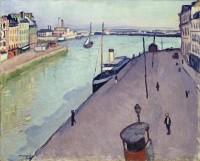 Albert Marquet (1875-1947), Vue du port du Havre (Le Quai de Notre Dame) vers 1911, huile sur toile © ADAGP, Paris 2016 / Fondation Collection E.G. Bührle, Zurich / ISEA