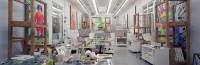 Gautier Deblonde L'Atelier de Jeff Koons à New York, 2005 Tirage jet d'encre. Lille, galerie Cédric Bacqueville © Gautier Deblonde