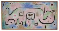 PAUL KLEE Insula dulcamara, 1938 Huile et couleur à la colle sur papier sur toile de jute - 88 x 176 cm Zentrum Paul Klee, Berne
