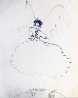 Croquis préparatoire n°50 (ange) du Petit Prince® (1943) © Succession Antoine de Saint-Exupéry 2015