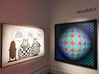 Philippe Geluck / Vasarely (c) D.R.