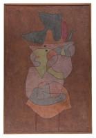 PAUL KLEE Dame Daemon Dame Démon, 1935 Huile et aquarelle sur toile de jute préparée sur carton 150 x 100 cm Zentrum Paul Klee, Berne