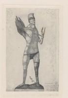 PAUL KLEE Der Held mit dem Flügel Le Héros à l'aile, 1905 Gravure à l'eau forte - 25,7 x 16 cm Zentrum Paul Klee, Berne