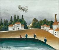 Henri Rousseau, dit Le Douanier Rousseau (1844-1910) Les Pêcheurs à la ligne, 1908-1909 Huile sur toile, 46 x 55 cm Paris, musée de l'Orangerie © RMN-Grand Palais (musée de l'Orangerie) / Hervé Lewandowski