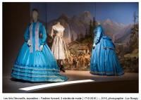 """""""Les Arts Décoratifs, Paris, exposition """"Fashion Forward, 3 siècles de mode (1715-2016)"""", 2016, photographie : Luc Boegly"""""""