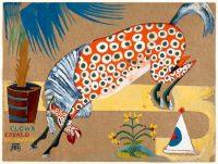 Amadeo de Souza-Cardoso, Titre inconnu (Clown, cheval, salamandre), vers 1911-1912, gouache sur papier ; 23,8 x 31,8 cm ; Lisbonne, CAM / Fundação Calouste Gulbenkian, Photo Paulo Costa