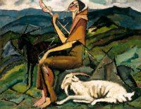 Amadeo de Souza-Cardoso Titre inconnu (Fileuse) vers 1913 huile sur carton collé sur toile 26,7 x 33,1 cm collection particulière Photo José Manuel Costa Alves