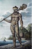 Wilhelm Gottlieb Tilesius von Tilenau. Graveur : Egor Skotnikov, Homme de Nuku Hiva, 1804. Gravure sur cuivre © musée du quai Branly