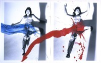 Amour de KaoRi (KaoRi Love), 2007. Peinture acrylique sur deux tirages noir et blanc. Collection privée, New York © Nobuyoshi Araki/eyesencia