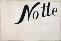 Jannis KOUNELLIS, Senza titolo (Notte) [Sans titre (Nuit)], 1965. Huile sur toile non enduite, agrafée sur châssis. Collection Centre Pompidou, mnam /cci © Centre Pompidou/Dist. RMN-GP © Adagp, Paris 2016
